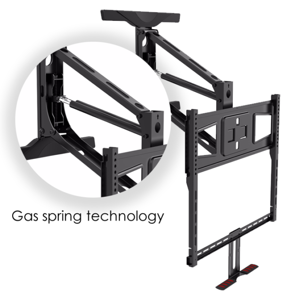 "Buy Full Motion TV Mount bracket | Lowering Pull down Television 55"" to 65"""