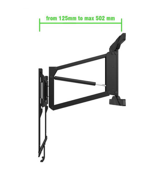 "Full Motion TV Mount bracket | Lowering Pull down Television 55"" to 65"" Review"