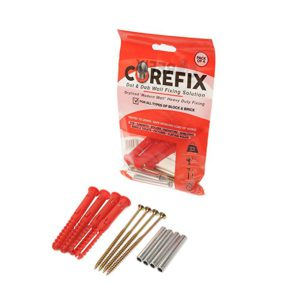 Corefix TV Wall mount bracket fixing screws for plasterboard walls