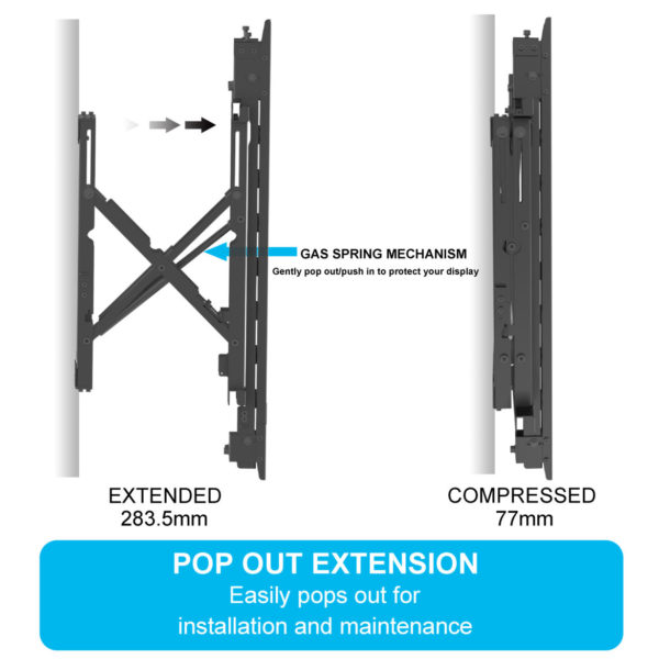 pop out TV wall mount