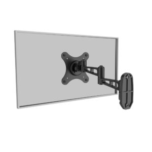 Full motion TV/Monitor wall mount bracket, Universal - Black