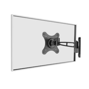 Full motion TV/Monitor wall mount bracket, Universal - Black