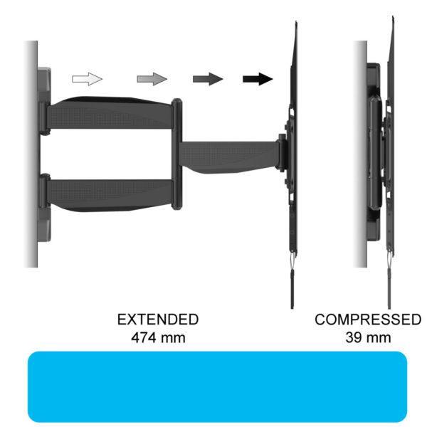 Full Motion TV Mount (Super Slim) universal bracket Specification