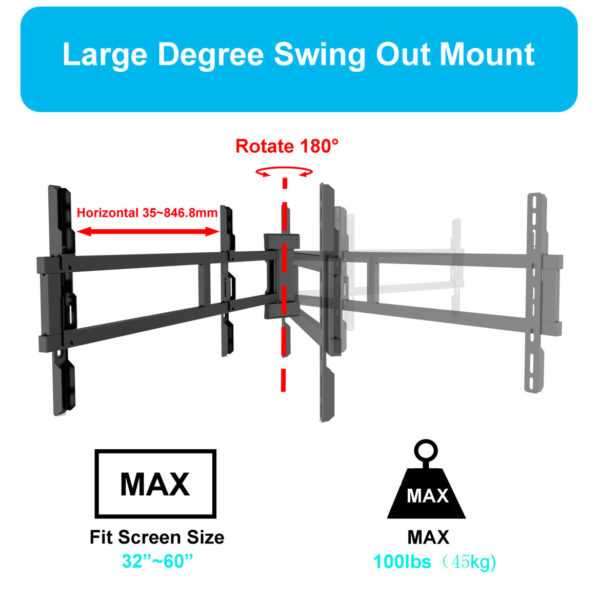 Swing out TV mount universal bracket Specs